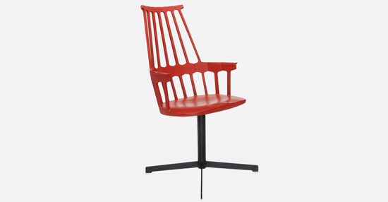 truedesign_kartell_comback_swivel_red_armchair