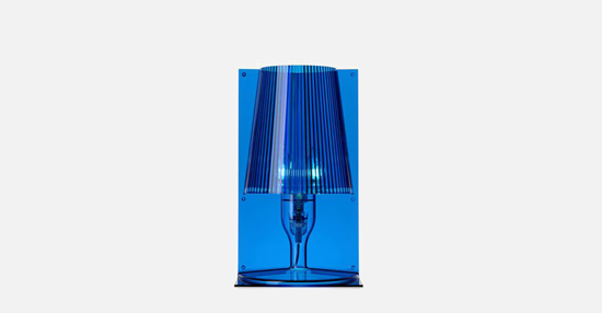 trudesign_kartell_take_lamp_blue_lights