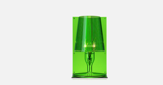 trudesign_kartell_take_lamp_green_lights