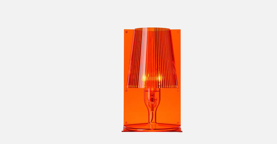 trudesign_kartell_take_lamp_orange_lights